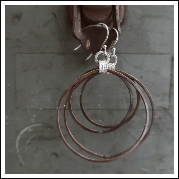 Image of Organic Copper Hoops