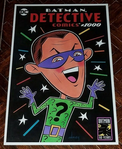 Image of THE RIDDLER DETECTIVE COMICS #1000 SKETCH COVER 11x17 PRINT!
