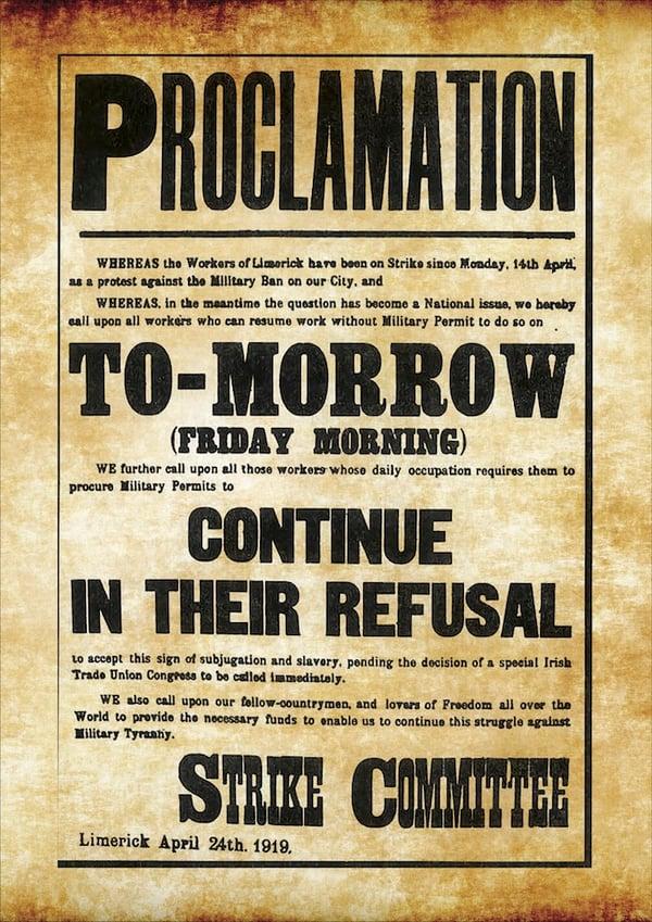 Image of Limerick Soviet Poster