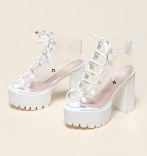 """Image of """"Chunky"""" Platform Lace Up Sandals"""