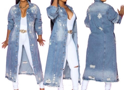 "Image of ""Always Ready"" Full Denim  Duster/Jacket"