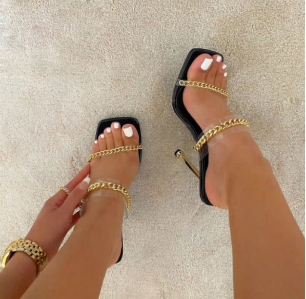 Image of Chain Strap Heel Sandals