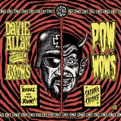 "Image of 7"". Davie Allen & The Arrows Vs The Pow Wows.  Coloured vinyl."