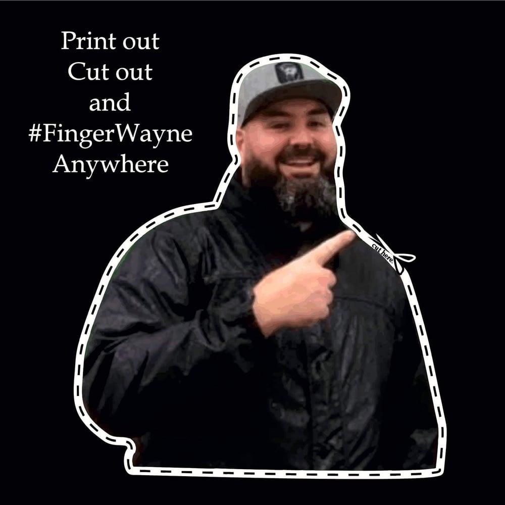 Image of #FingerWayne Sticker 100mm x 100mm