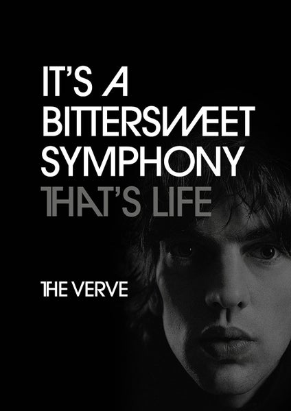 Image of The Verve - Bittersweet Symphony Poster