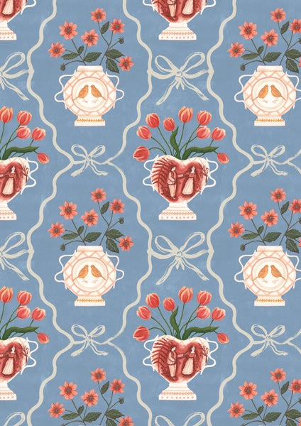 Image of Romantic Vase Wallpaper