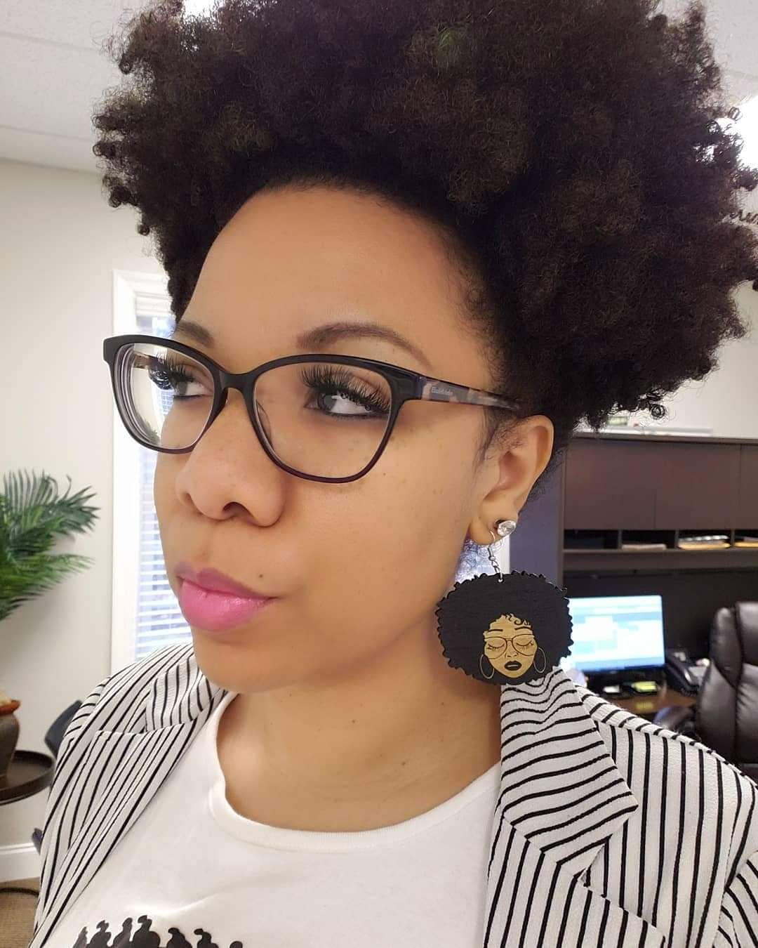 Image of Glasses Fro Babe Earrings