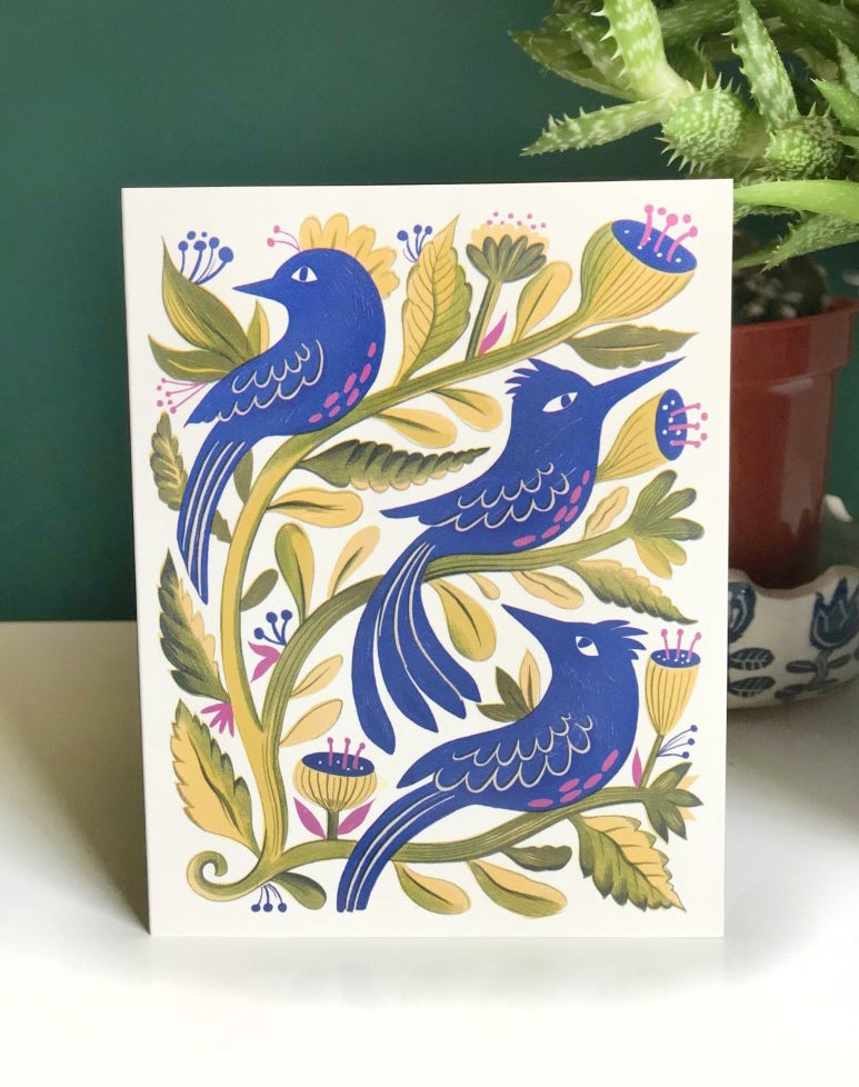 Image of Blue birds Card