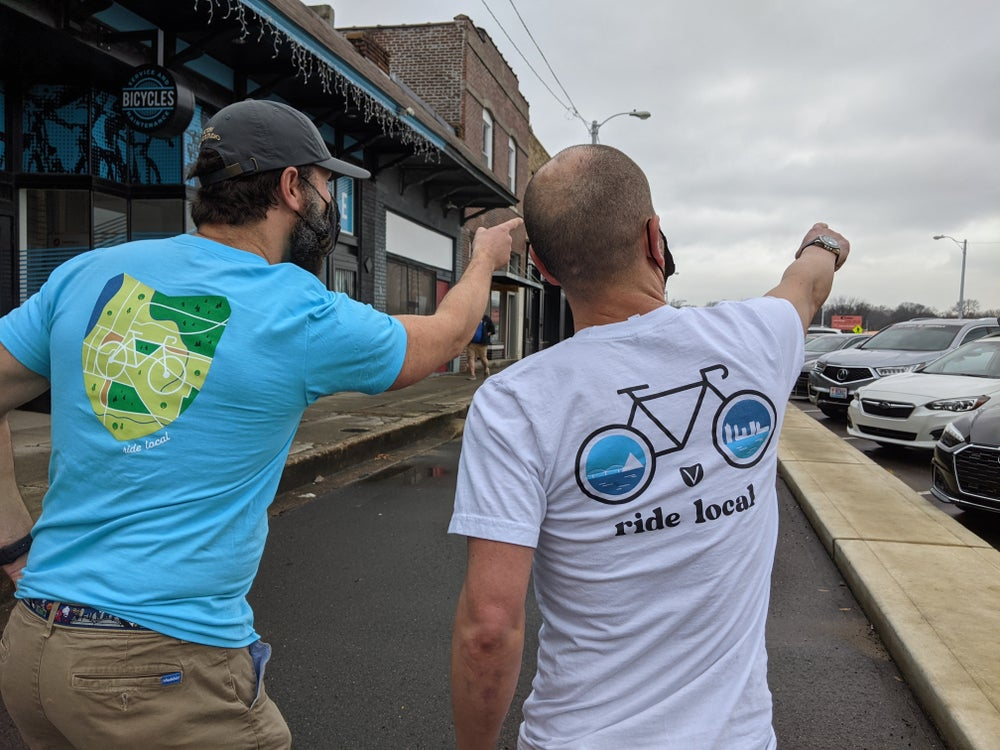 Image of Shop Local Tees- Blue edition