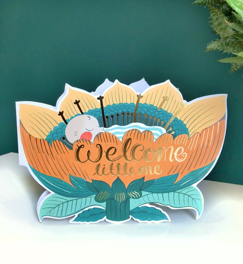 Image of Welcome little one Card