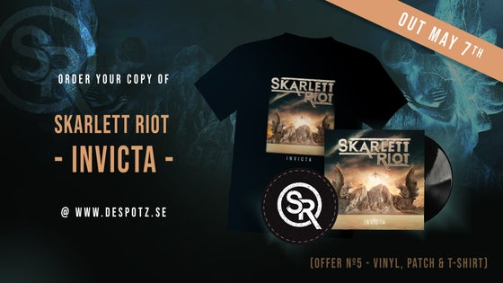 Image of Pre-Order Skarlett Riot - Invicta (T-shirt, LP, Patch)