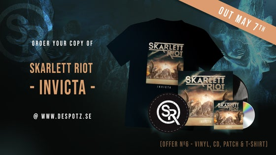 Image of Pre-Order Skarlett Riot - Invicta (T-shirt, CD, LP, Patch)
