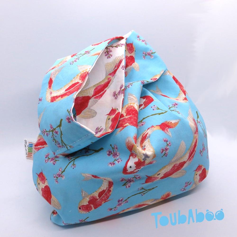 Image of Knot bag réversible carpes