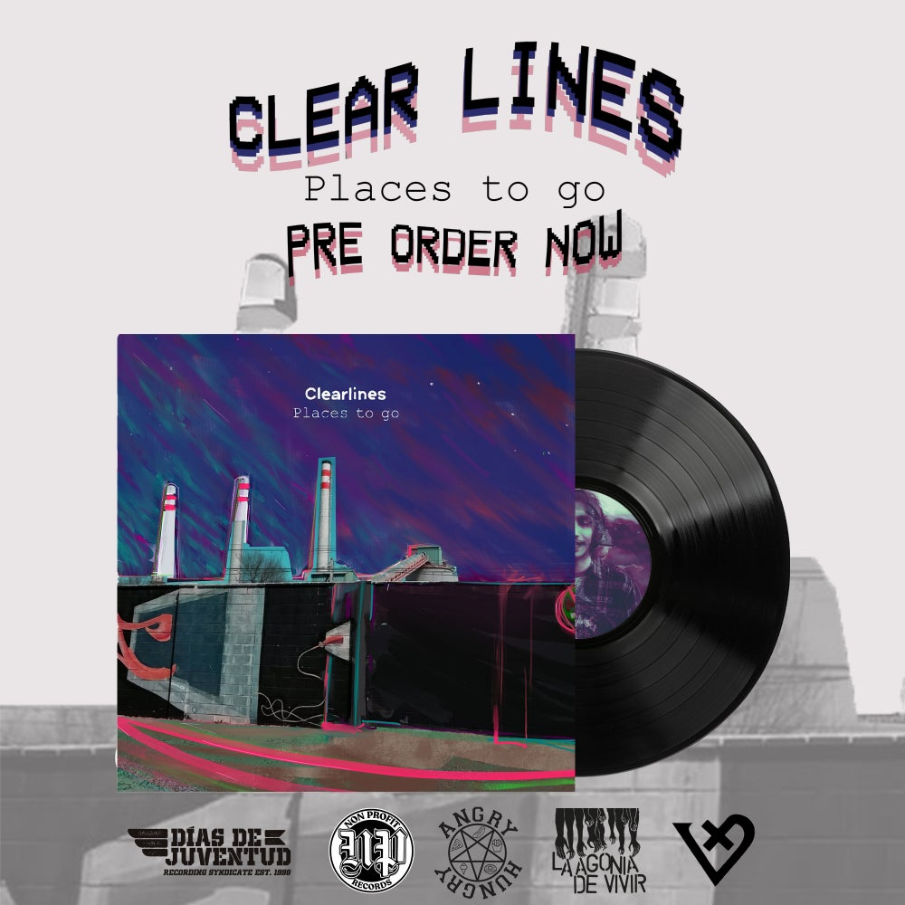 "Image of PRE-ORDER NOW! LADV144 - CLEAR LINES ""places to go"" LP"