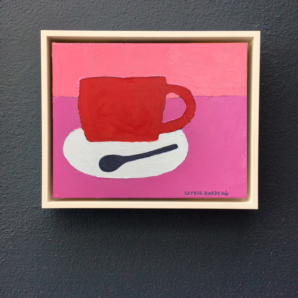 Image of Red Cup and Spoon