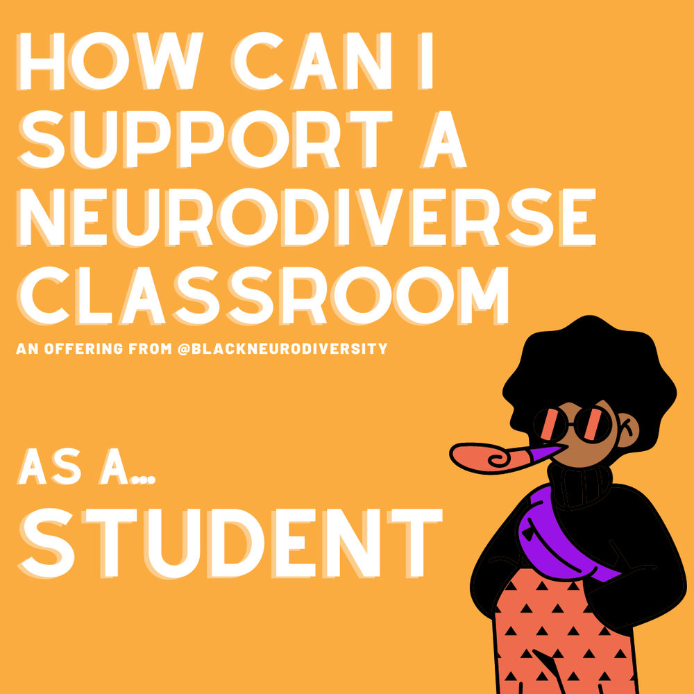 Image of How can I support a neurodiverse classroom...as a student