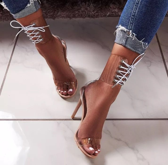 "Image of ""Laced Up"" Heel Sandal"