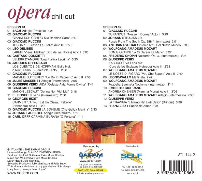 ATL154-2 // OPERA CHILL OUT (DOPPIO CD COMPILATION)