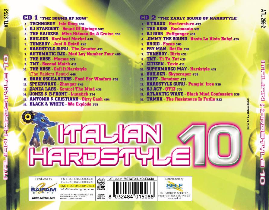 ATL255-2 // ITALIAN HARDSTYLE 10 (DOPPIO CD COMPILATION)
