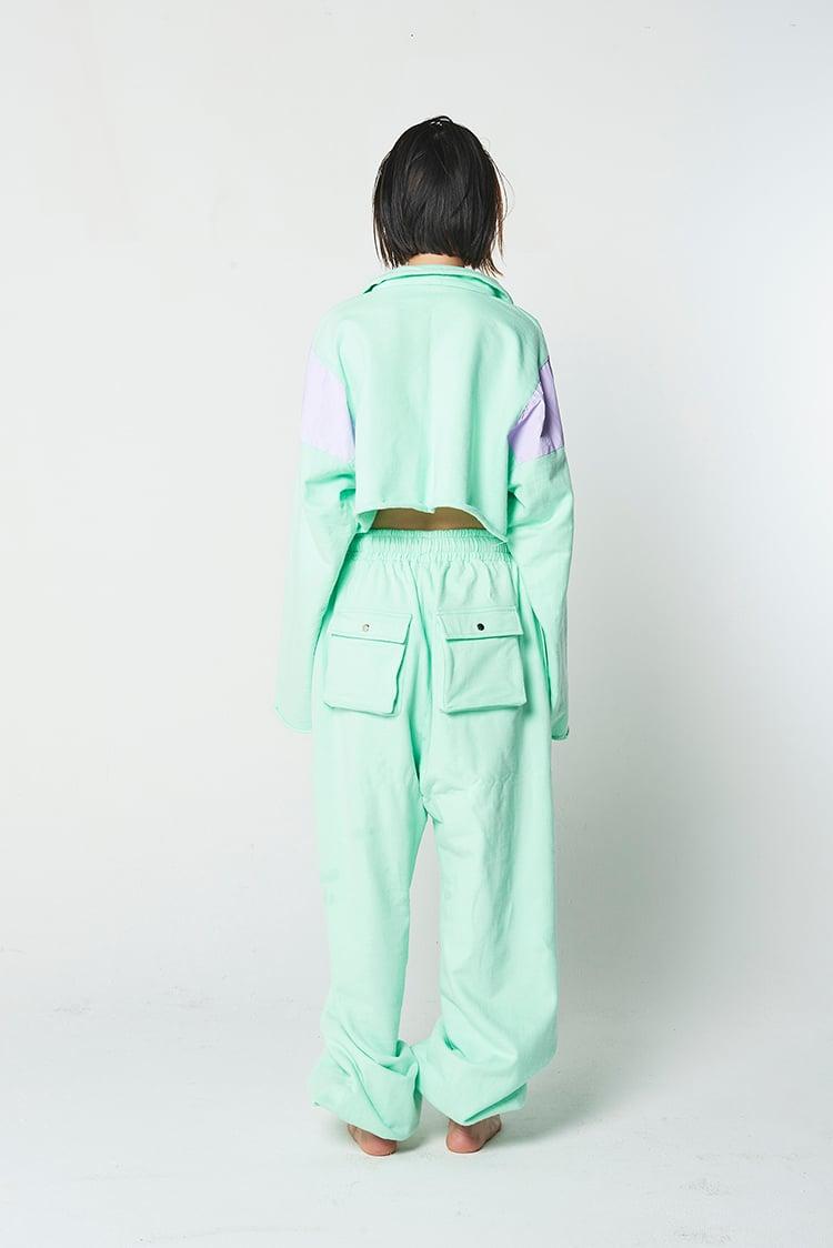 Mint top & sweat pants