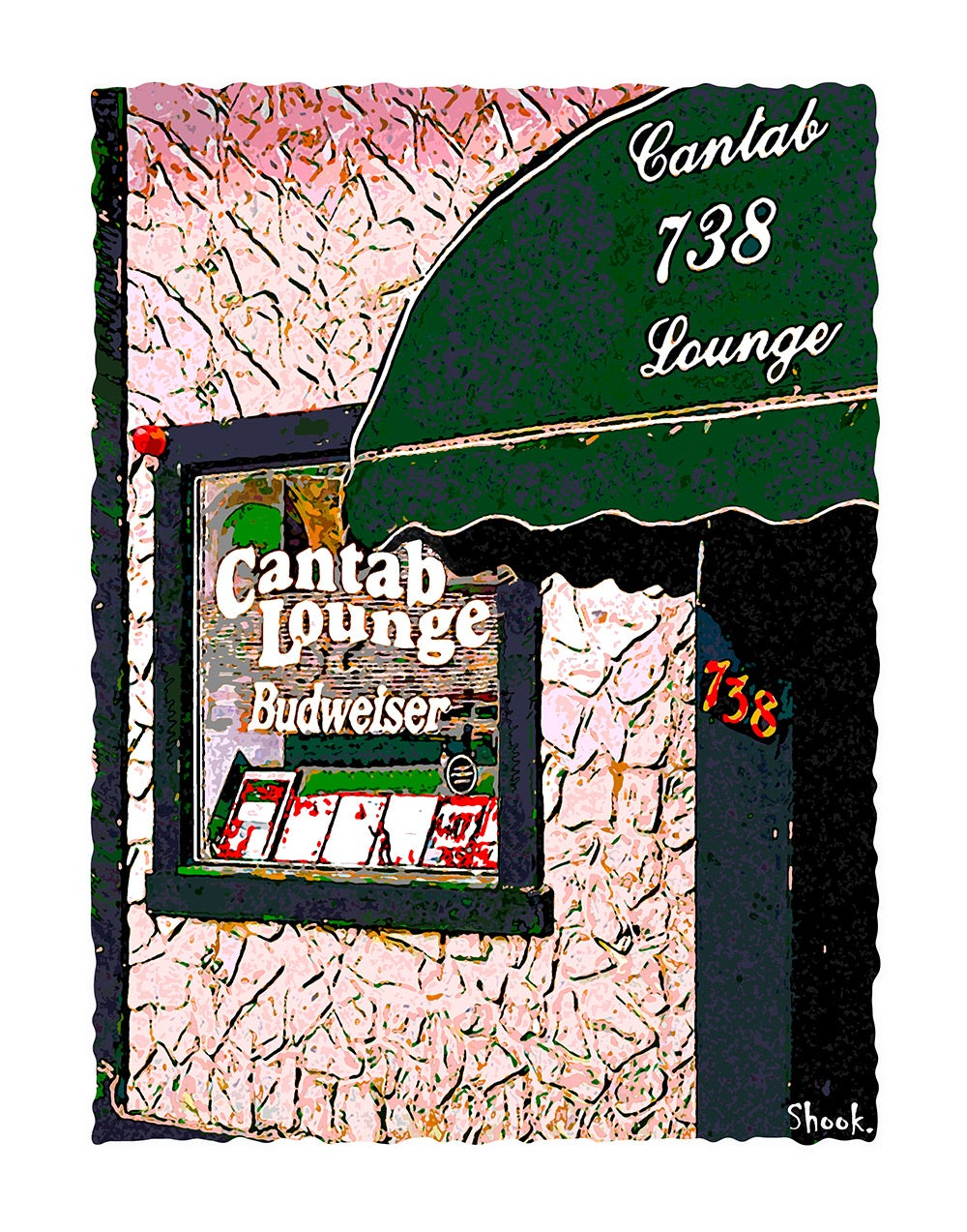 "Cantab Lounge Cambridge Giclée Art Print - 11"" x 14"""