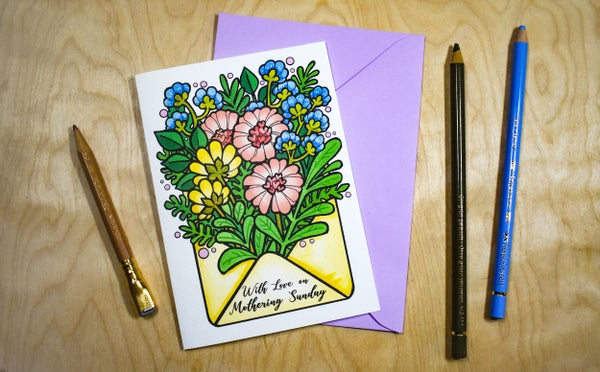Image of With love on Mothering Sunday - Card