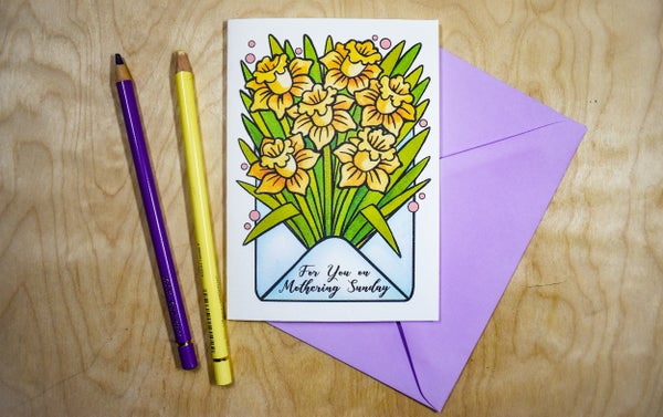 Image of Daffodils Mothers Day - Card