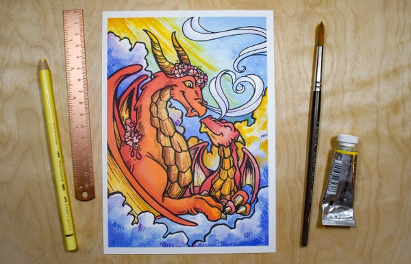 Image of Sky Dragon Parent - Art Print