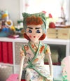 1940s style Pinny Girl rag doll