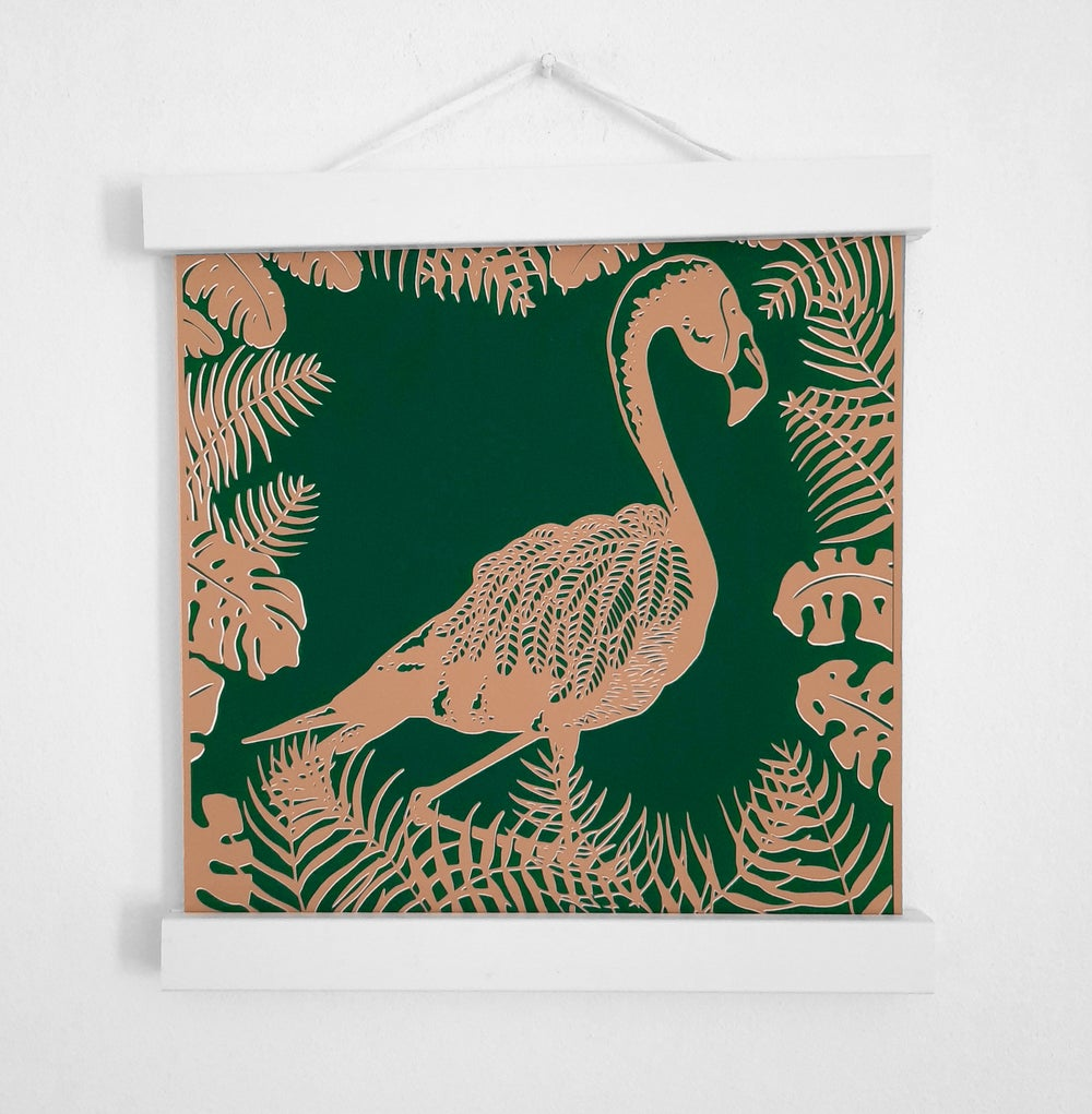 Image of Flamingo Paper Cut Giclée Print