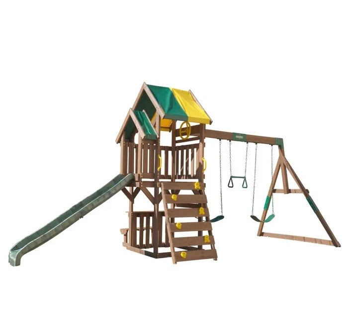 Image of Delux Swing, Climb & Slide Playset