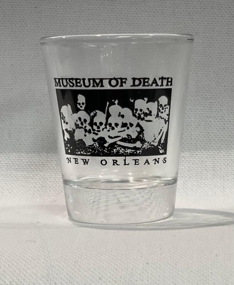 Image of New Orleans Bed of Skulls Shotglass