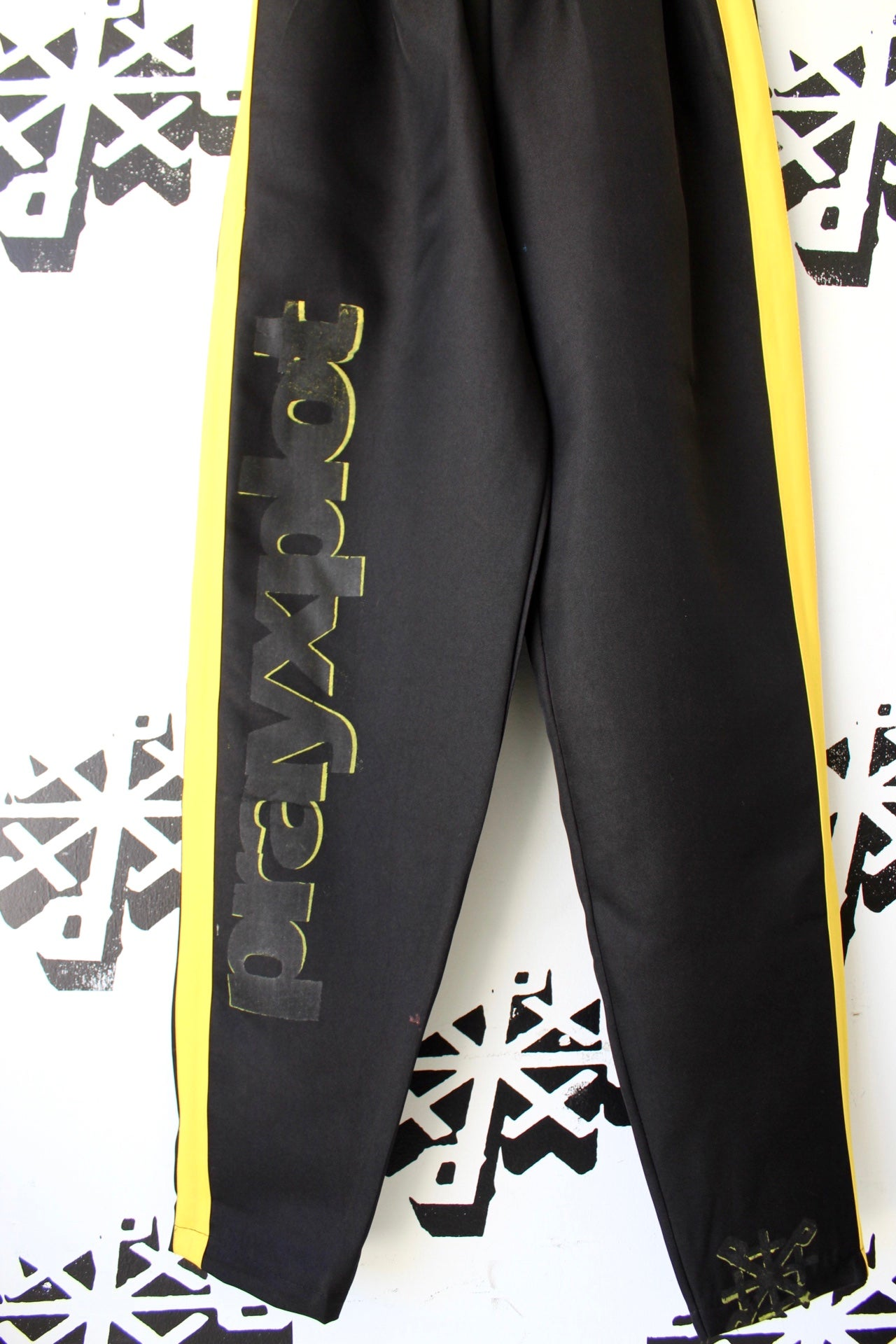 Image of 1 leg up pants in black