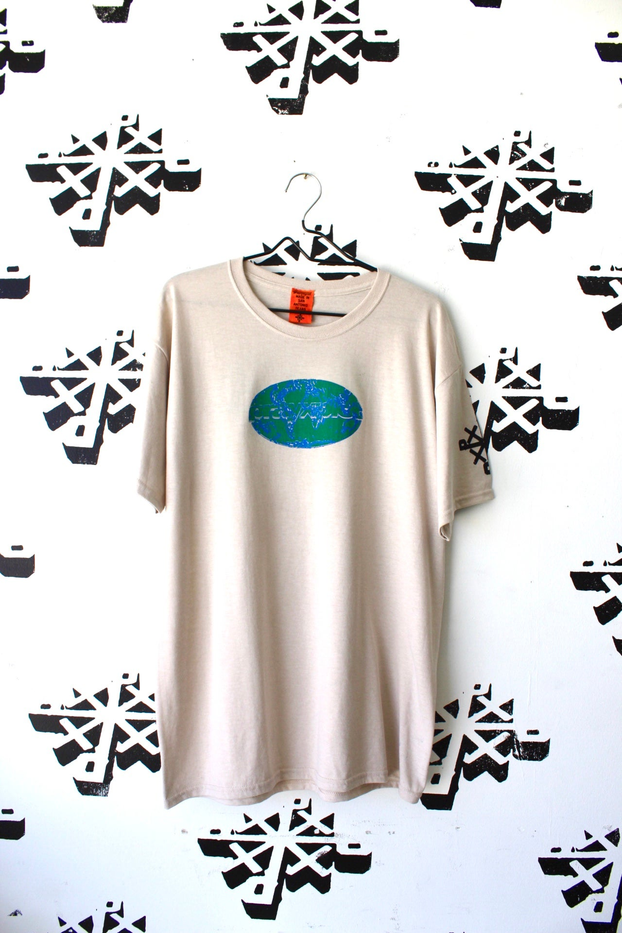 Image of take over tee in tan