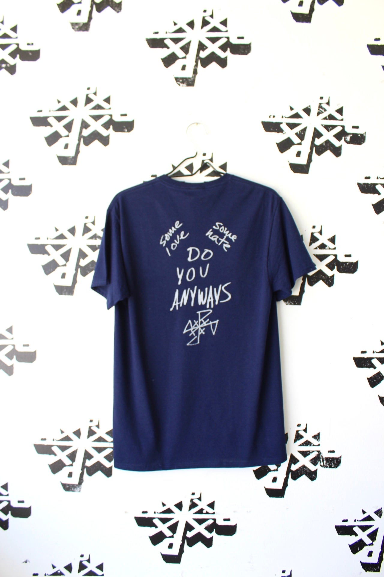 Image of some love some hate tee in navy