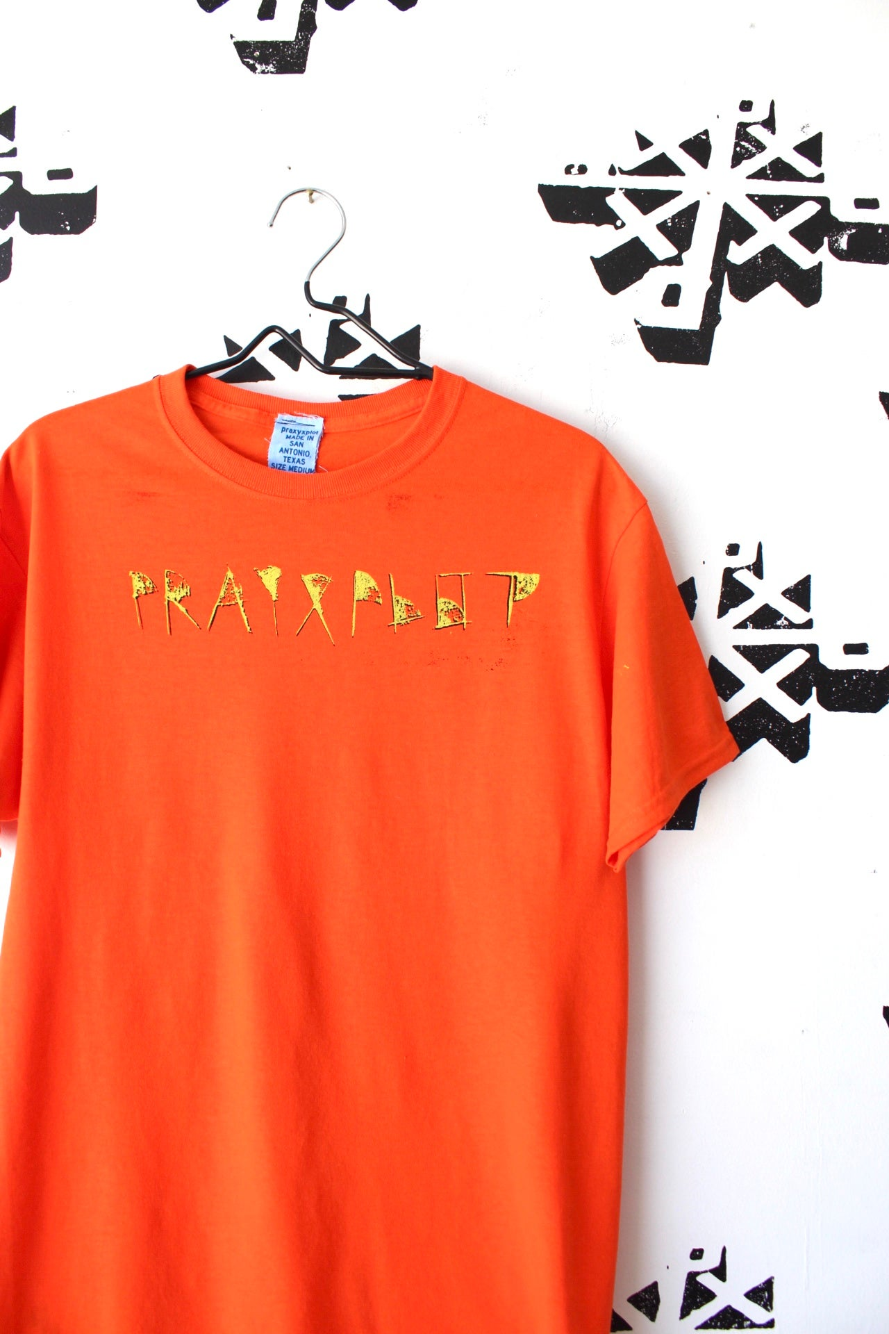 Image of clean sweep tee in orange