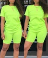 NEON CHILL BIKER SHORT SET