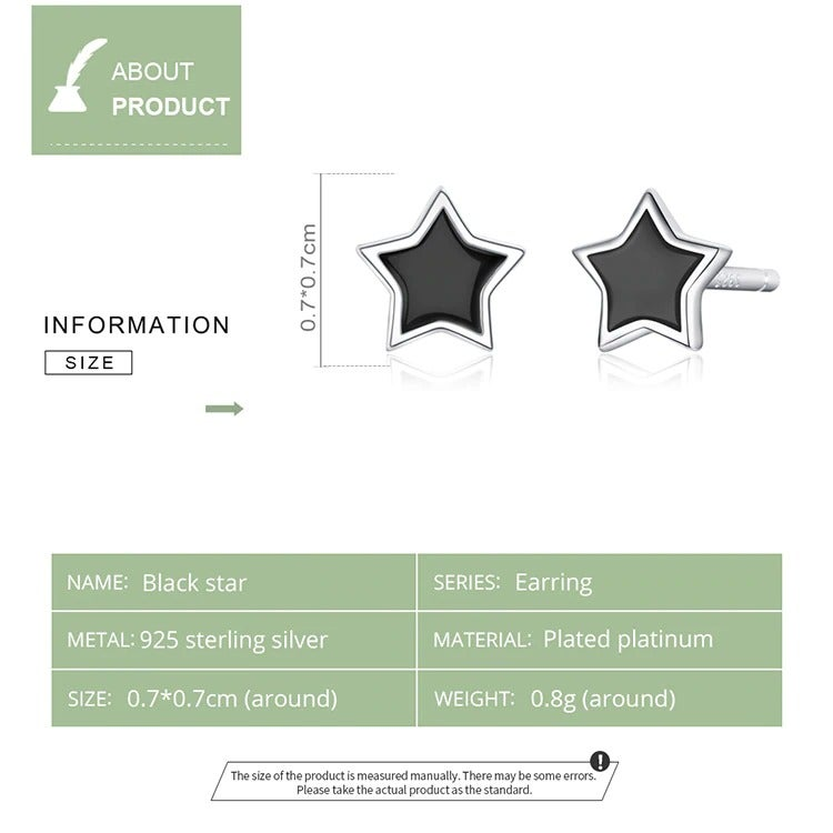 Blackstar Earrings (925 Sterling Silver)