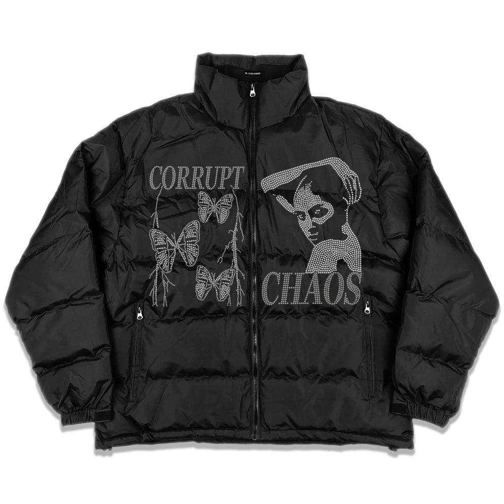 Image of Chaos Rhinestone Puffer Jacket