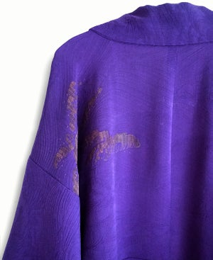 Image of Lilla silkekimono med bølge motiv