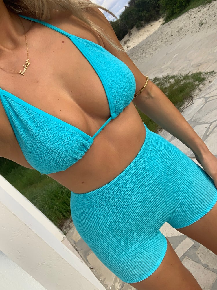 Image of Neon Blue Triangle & Skirt OR Shorts Co-Ord