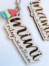 Mom or Grandma Themed Keychain with Colorful Tassel and Kid(s) Names