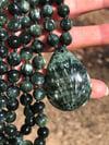 Genuine Seraphinite Mala, Seraphinite 108 Beads Japa Mala