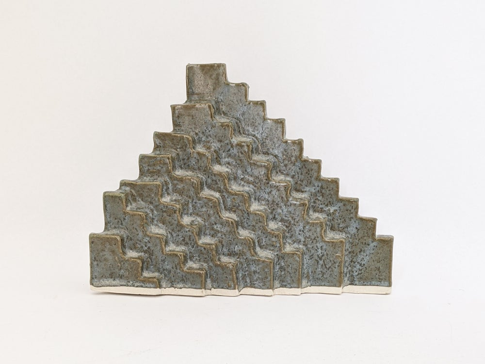 Image of steps sculpture in eucalyptus