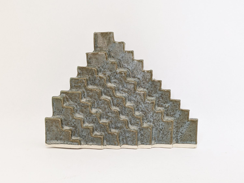 Image of steps sculpture in eucalyptus