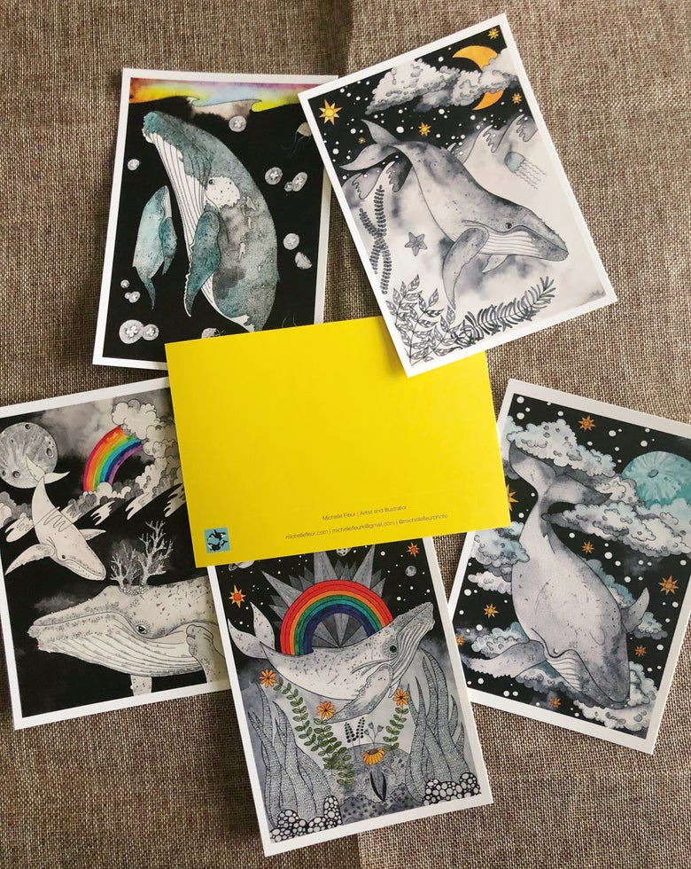 Image of Celestial Whaley Postcards!