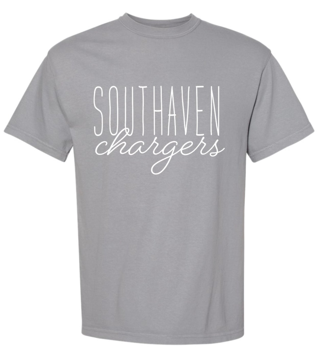 Image of Southaven Charger Script Tee Shirt