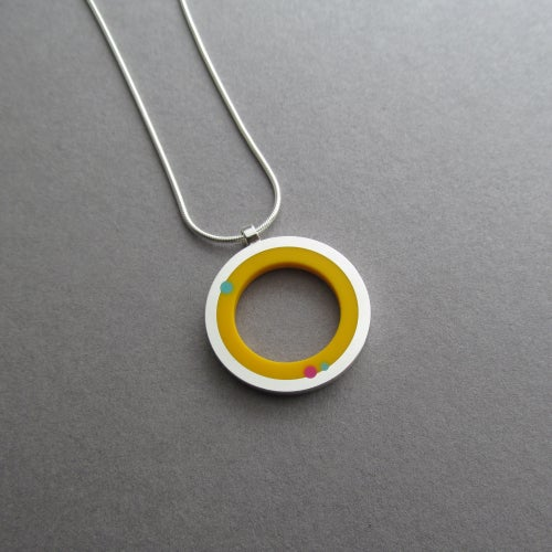 Image of Rings of Saturn Pendant in Sunburst Yellow