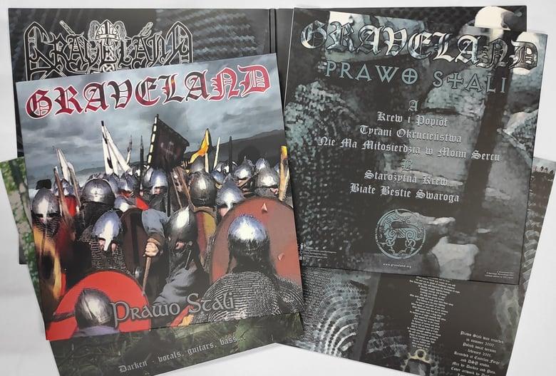 "Image of GRAVELAND ""Prawo Stali"" 12"" LP - 3 colors + FLAG"