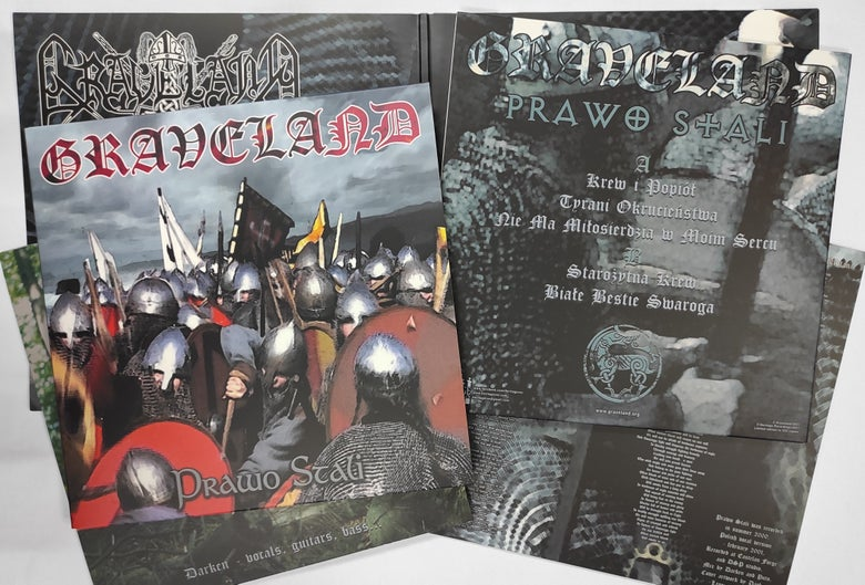 "Image of GRAVELAND ""Prawo Stali"" 12"" LP - black vinyl + WOODEN BOX"